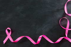 High angle view photo of breast cancer symbol sign Stock Image