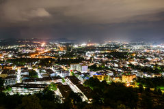 High angle view Phuket province at night Stock Images