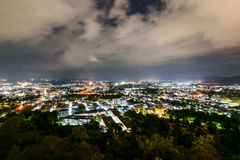 High angle view Phuket province at night Royalty Free Stock Images