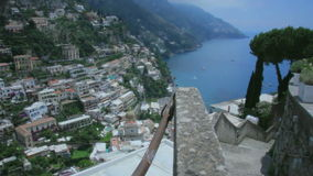 High Angle View on Positano Amalfi Coast Italy
