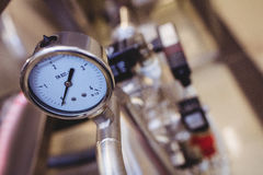 High angle view of pressure gauge Royalty Free Stock Photos