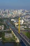 High angle view of Rama 9 Bridge. Royalty Free Stock Photography