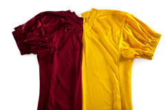 High angle view of red and yellow jersey Stock Photography