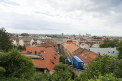 High angle view of residential district in Zagreb, Croatia Stock Images