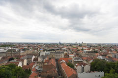 High angle view of residential district in Zagreb, Croatia Royalty Free Stock Photography