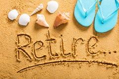 Retirement Plan On Beach Royalty Free Stock Image