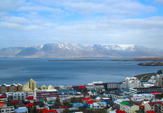 High-angle view of Reykjavik Royalty Free Stock Photo