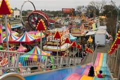 High Angle View Of Rides And Tents At Atlanta Fair Stock Photo