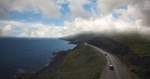High angle view of road by sea against sky Royalty Free Stock Image