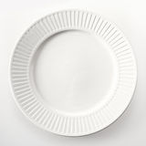 High Angle View of a Round White Plate Royalty Free Stock Image