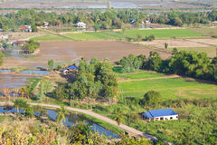 High angle view of rural areas. Stock Photos