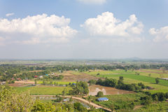 High angle view of rural Thailand. Stock Photos