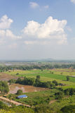 High angle view of rural Thailand. Royalty Free Stock Photo