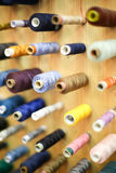 High angle view of sewing threads Stock Photo
