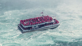 High Angle View of Ship on the Sea Royalty Free Stock Photo