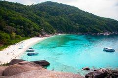 High angle view of Similan island Andaman sea and white beach. P stock image