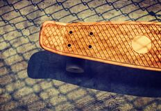 High Angle View of a Skateboard Stock Photography