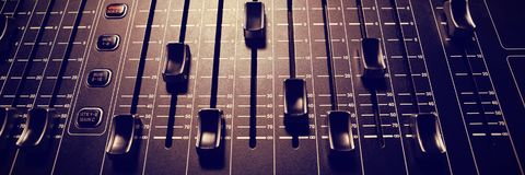 High angle view of sound mixer Royalty Free Stock Image