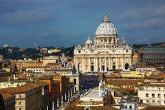 High angle view of St.Peter square, Rome Stock Images