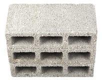 Isolated Construction Blocks - Three High Angle. High angle view of three gray concrete construction blocks (a.k.a. cinder block, breeze block, cement block Royalty Free Stock Image
