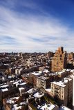 West Village Snow Covered Roof Tops Manhattan New-York. High angle view to the west at the snow covered rooftops of the West Village in Manhattan, on a lovely Stock Photography