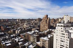 West Village Snow Covered Roof Tops Manhattan New-York Royalty Free Stock Photo