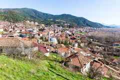 High angle view of traditional town Tarakli which is a historic district in the Sakarya Province Royalty Free Stock Images