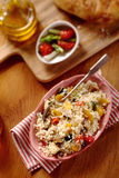 High angle view of Veggie quinoa recipe Royalty Free Stock Images