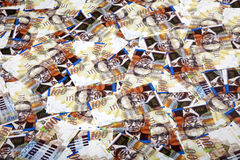 One Hundred Shekels Bills  Messy Background Royalty Free Stock Photos