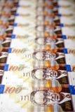 One Hundred Shekels Bills Background Royalty Free Stock Images