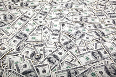 One Hundred Dollar Bills Background - Mess Stock Photos