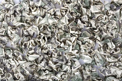 Crimped Cash Background Royalty Free Stock Photography