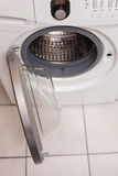 High angle view of washing machine Royalty Free Stock Photos