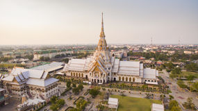 High angle view of wat laung phor sothorn most important religio Royalty Free Stock Photo