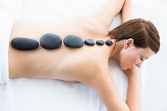 High angle view of woman relaxing at spa Royalty Free Stock Photo