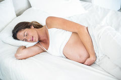 High angle view of woman sleeping Royalty Free Stock Photo