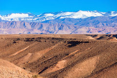 High Atlas Mountains. High Atlas, also called the Grand Atlas Mountains is a mountain range in central Morocco in Northern Africa stock image