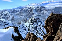 The High Atlas mountains of Morocco. Snows royalty free stock images
