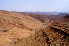 View of high altitude mountains in Morocco Royalty Free Stock Photo