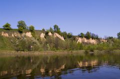 High bank of Desna river Royalty Free Stock Photos