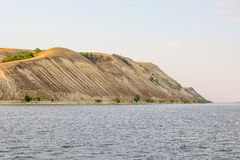 High Bank of the Volga near the city of Saratov, Russia. The hilly side of the river Royalty Free Stock Images