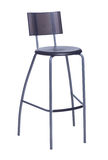 High bar stool isolated on white Royalty Free Stock Images