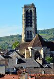 High bell tower of a church in Champagne Royalty Free Stock Photo