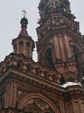 Bell tower. High bell tower in Kazan Stock Photo