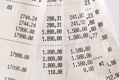 High bills Stock Image