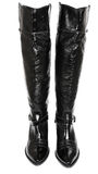 High black glossy boots Royalty Free Stock Photography