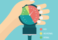 High blood pressure concept. stock illustration