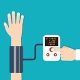High blood pressure concept. Vector illustration Stock Images