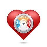 High blood pressure concept. Vector illustration royalty free illustration