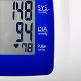 High Blood pressure. Results on a digital display Royalty Free Stock Photography